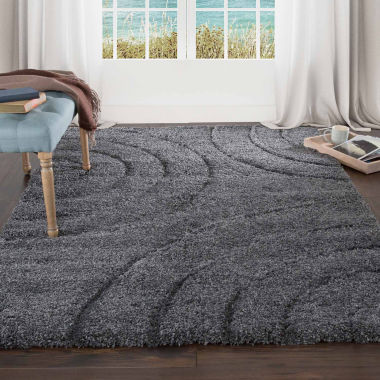 jcpenney.com | Cambridge Home Sculptured Circles Shag Rectangular Rugs