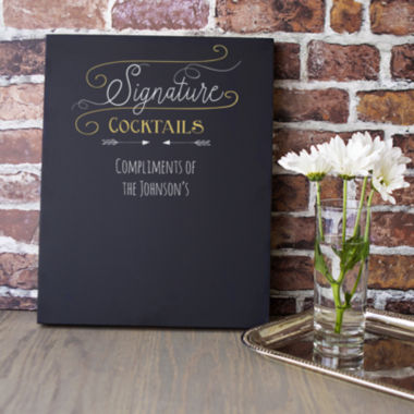 jcpenney.com | Cathy's Concepts Personalized Cocktail Menu Chalkboard