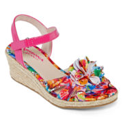 Arizona Piper Girls Wedge Sandals - Little Kids/Big Kids