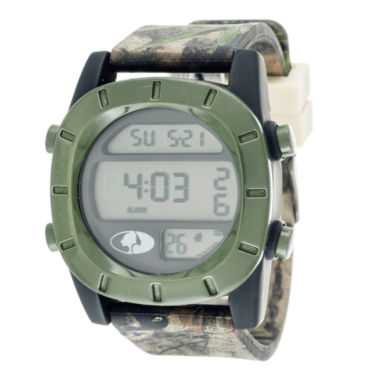 jcpenney.com | Mossy Oak® Mens Olive Bezel Camouflage Silicone Strap Sport Watch