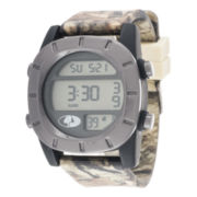 Mossy Oak® Mens Gray Bezel Camouflage Silicone Strap Automatic Sport Watch