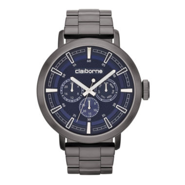 jcpenney.com | Claiborne® Mens Gunmetal Oversized Watch