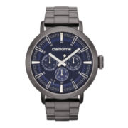 Claiborne® Mens Gunmetal Oversized Watch