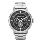 Claiborne® Mens Silver-Tone Oversized Watch