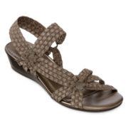 St. John's Bay® Karmen Woven Strappy Sandals