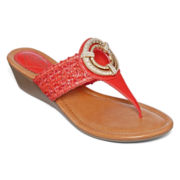 St. John's Bay® Dolly Woven Band Thong Sandals