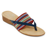 St. John's Bay® Gabby Banded Thong Sandals