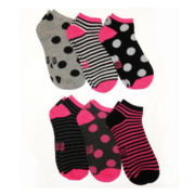 6-pk. Patterned Low-Cut Socks
