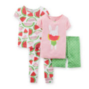 Carter's® 4-pc. Pajama Set - Baby Girl 6m-24m
