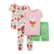 Carter's® 4-pc. Pajama Set – Girls Toddler 2t-5t
