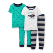 Carter's® 4-pc. Whale Pajama Set - Baby Boy 6m-24m