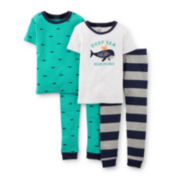 Carter's® 4-pc. Whale Pajama Set – Boys 2t-5t