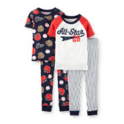 Carter's® 4-pc. Baseball Pajama Set – Boys 2t-5t