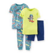Carter's® 4-pc. Raccoon and Skateboard Pajama Set - Boys 2t-5t