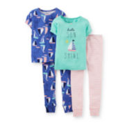 Carter's® 4-pc. Sunshine and Sailboats Pajama Set – Girls 6m-24m