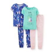 Carter's® 4-pc. Sunshine and Sailboats Pajama Set – Girls 2t-5t