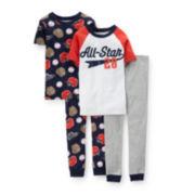 Carter's® 4-pc. Baseball Pajama Set - Boys 4-7
