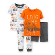 Carter's® 4-pc. Orange Dig Pajama Set - Boys 4-7