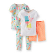 Carter's® 4-pc. Pig and Popsicle Pajama Set – Girls 4-7