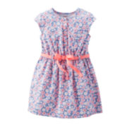 Carter's® Cap-Sleeve Flower Dress - Girls 4-6x