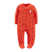 Carter's® Anchor Print Zippered Sleep & Play – Boys newborn-9m