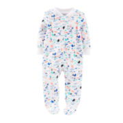 Carter's® Nautical Print Zippered Sleep & Play - Boys newborn-9m
