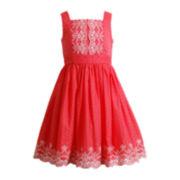 Emily West® Sleeveless Embroidered Dress – Girls 7-16