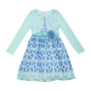 Rare Editions 2-pc. Dress and Cardigan Set – Girls 7-16