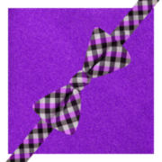 JF J. Ferrar® Pavia Gingham Pre-Tied Bow Tie & Pocket Square Set
