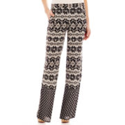by&by Wide-Leg Aztec Pants