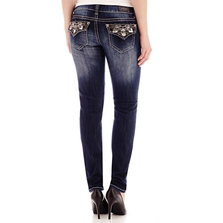 ZCO Jeweled Flap-Pocket Skinny Jeans