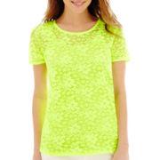 Stylus™ Short-Sleeve Lace T-Shirt