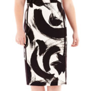 Worthington® Double-Tux High-Waist Pencil Skirt - Plus