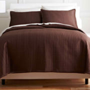 Royal Velvet® Matte Satin Square 3-pc. Coverlet Set