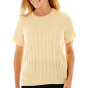 Alfred Dunner® Spring Bliss Short-Sleeve Shell Sweater