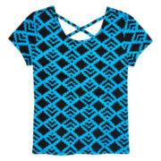 Total Girl® Cross-Back Short-Sleeve Top - Girls Plus