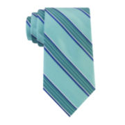 Stafford® Creekside Stripe Silk Tie - Extra Long