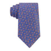 Stafford® Creekside Floral Vine Silk Tie - Extra Long