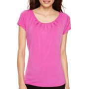 Worthington® Short-Sleeve Essential T-Shirt - Petite