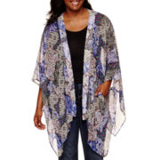 Arizona Print Cardigan Kimono - Juniors Plus