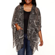 Arizona Print Cardigan Kimono - Juniors Plus
