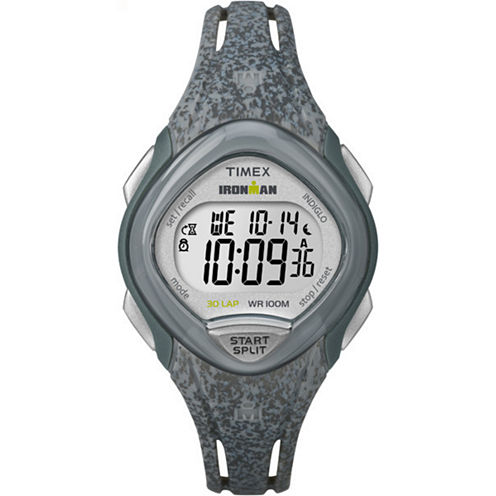 Timex Sleek 30 Womens Gray Strap Watch-Tw5m086009j