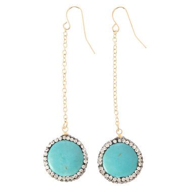 jcpenney.com | Natasha Accessories Clear Crystal Drop Earrings