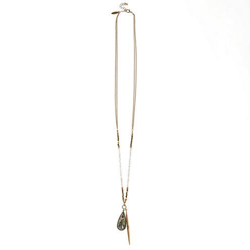 Natasha Accessories Womens Blue Crystal Pendant Necklace