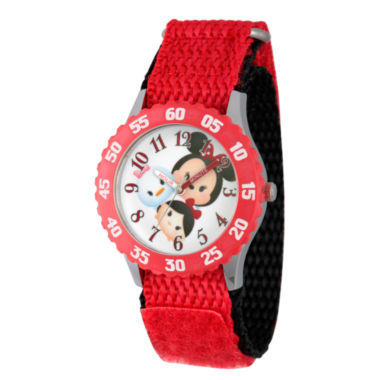 jcpenney.com | Disney Tsum Tsum Girls Red Strap Watch-Wds000117