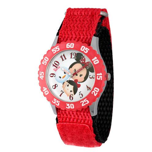 Disney Tsum Tsum Girls Red Strap Watch-Wds000117