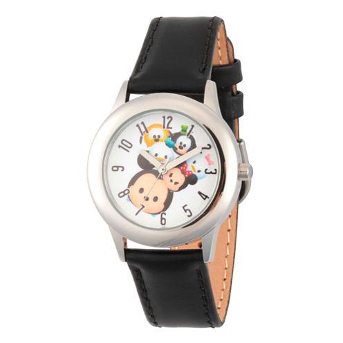 Disney Tsum Tsum Boys Black Strap Watch-Wds000120