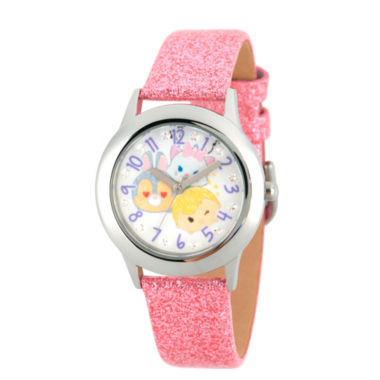 jcpenney.com | Disney Tsum Tsum Girls Pink Strap Watch-Wds000121