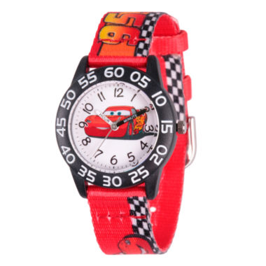jcpenney.com | Disney Cars Boys Red Strap Watch-Wds000124