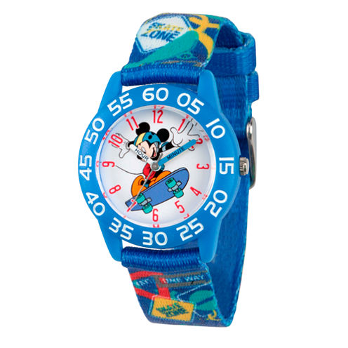 Disney Mickey Mouse Boys Blue Strap Watch-Wds000126